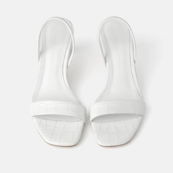 Zara Shoes | Zara White Leather Sandals
